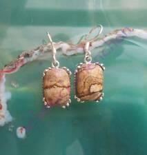 Earring Sahara Jasper Stone of the Zodiac Signs Ram Sterling Silver 925