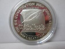 1987 US Constitution Proof Silver Dollar Commemorative Coin - Capsule