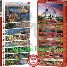 Castorland Trefl 1000 Piece Jigsaw Puzzle Landscapes Cities + 1 Random Free