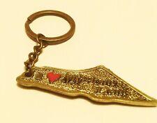 Palestine Bronze Map Metal Keychain I love my home land Key Holder Ring