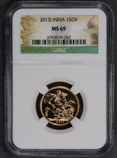 2013-I INDIA GOLD SOVEREIGN *NGC MS 69* LOT#L382