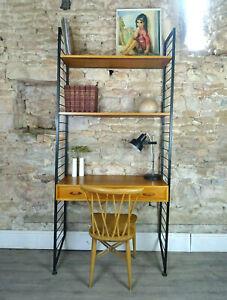 Vintage mid century 1960s teak LADDERAX desk shelving bookcase drawer DELIVERY