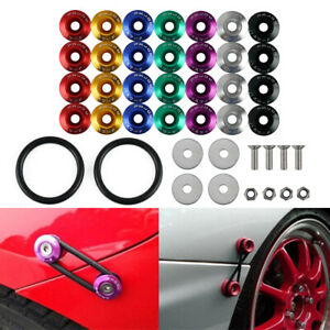 Universal Alloy Quick Release Bumper Fastener Trunk Fender Hatch Lid Assembly