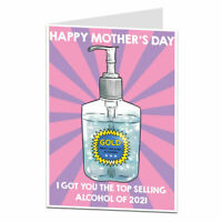 Funny Happy Mother's Day Card For Mum Humorous Alcohol Lockdown 2021 Design