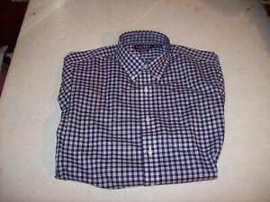 Ralph Lauren Men's Medium Slim 15.5 32/33 Purple Plaid Button Up Shirt NEW NWT