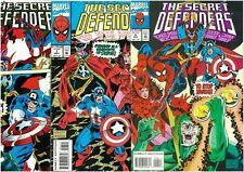 3 x Secret Defenders Comics #6-8 Captain America Dr. Strange Spider-man Marvel!!