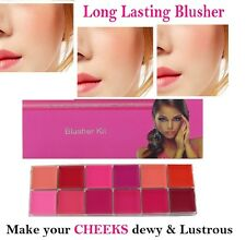Saffron Cream Blusher Long Lasting Blush Palette Set Make up Kit Pink Peach Nude