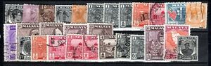 STAMPS WORLD USED LOT OF 28 STAMPS, MALAYSIA #2  IN ASIA, MUST L@@K