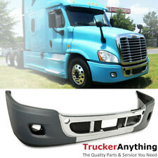 Complete Front Bumper Freightliner Cascadia 08-17 Chrome Trim with Fog Lamp Hole