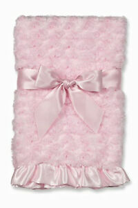 Swirly Snuggle Blanket Pink 197003  from Bearington Baby Collection NWT