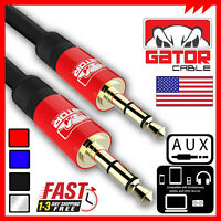 Aux Auxiliary Cable Male Audio Cord 3.5mm Car iPhone Android Samsung HTC LG 6FT