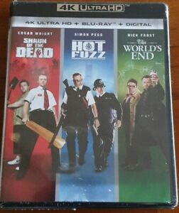 WORLD'S END / HOT FUZZ / SHAUN OF THE DEAD TRILOGY 4K + BLURAY NEW SEALED