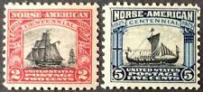 1925 2c & 5c Norse-American commemorative issue, Scott #620-21, MNH, F-VF