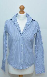 Smart Blue White Shirt Size 36 VGC Milano Donna