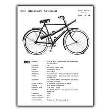 Los militares Sunbeam Bicicleta Bici 1915 WW1 Metal Placa De Pared Letrero Cartel de impresión