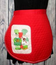Waverly Kitchen Ensembles vintage quilted apron Christmas Chefs