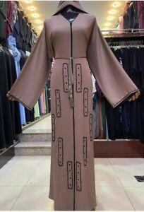 Latest Design Dubai Open Abaya Kaftan Farasha  Maxi jilbab jalabiya burkha