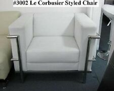 Modern Le corbusier leather chair in black or white #3002