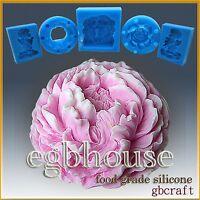 egbhouse, 3D Soap/sugar/fondant/chocolate Mold  -  Ruffled Peony
