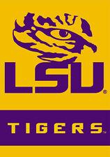LSU Tigers TIGER-EYE Official NCAA Team Logo Premium 28x40 WALL BANNER