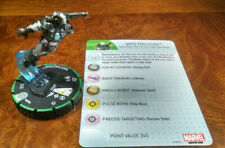 War Machine #029b uncommon prime Invincible Iron Man Heroclix set with card