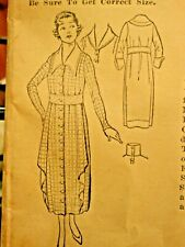 Pictorial Review Pattern 7954 Misses One Piece 1915 Dress age 16 years Complete