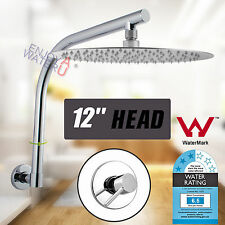 300MM 12'' Rain Shower Head Round+Wall Mounted Goose neck Arm+Mixer Tap Tapware