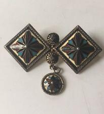 "Vintage Antique David Andersen 830 Silver Enamel Star Pin Brooch 2"""