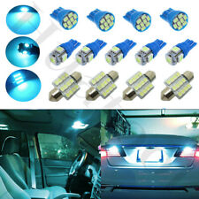 13Pcs Car Ice Blue Interior LED Lights Dome Map License Plate Lamp Package Kit