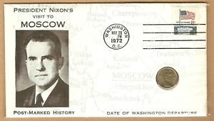 1967 RUSSIA USSR COIN 10 KOPEKS - FDC - 1972  NIXON VISIT MOSCOW - RARE