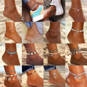 Women Summer Boho Ankle Bracelet Adjustable Beach Foot Chain Foot Jewelry Gift