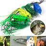 Hot 5Pcs Fishing Lures Large Soft Frog Topwater Crankbait Hooks Bass Bait Tackle