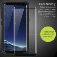 Galaxy S8 S9+ Plus 3D Case Friendly Tempered Glass Screen Protector for Samsung