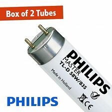 2 X Philips 58W White 835 5FT (1500mm) T8 Fluorescent Tube (G13)