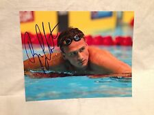 RYAN LOCHTE SIGNED AUTO 8x10 PHOTO SWIMMING OLYMPICS USA U.S.A. PROOF* *WOW* 14