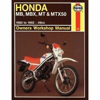 Honda MB, MBX, MT and MTX50 Owner's Workshop Manual by Jeremy Churchill...