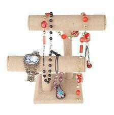 Jewelry Organize Display 2 Tier, T-Bar, Holder Bracelet Watch Necklace, US Stock