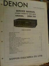Denon  DRM-700 Stereo Cassette Deck   Service Manual