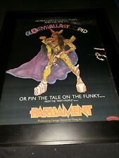 Parliament Gloryhallastoopid Rare Original Casablanca Promo Poster Ad Framed!