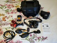 Nikon Coolpix B500 digital camera black with case and accessories.