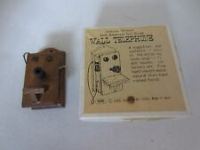 Vintage Shackman Dollhouse Miniature Early American Wood Antique Wall Telephone