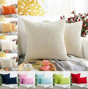 "NEW Jumbo Cord Corduroy Plush Plain Soft Cushion Cover Pillow Cases 18"" 20"" 22"""