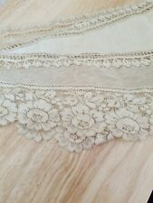 Antique Lace Shaw, 1900's good condition , used