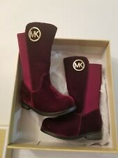 MICHAEL KORS EMMA LILY -T TODDLER/BABY PLUM (burgandy) SUEDE BOOTS GIRLS SIZE 5