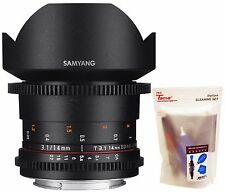 Samyang 14mm T3.1 Cine VDSLR II Version 2 ED UMC Wide Angle Lens for Canon EF