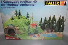 Faller Landschafts-Set 5 Gebäudebausätze Spur H0 OVP