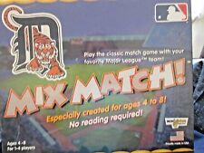 SEALED * 2005 DETROIT TIGERS MIX MATCH GAME FOR KIDS * AGES 4 TO 8 * 1 TO 4 PLAY