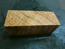SPALTED TIGER OAK DELUXE KNIFE BLOCK/SCALES/ CALLS/ PEN BLANKS--O--B--2