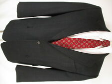 Hickey Freeman Mens Charcoal Plaid 2 Btn Suit 41R for Gieves & Hawkes