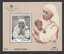 INDIA 1997 Mother Teresa Speed Post miniature sheet MNH